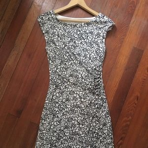 Loft Floral Print Stretchy Sheath Dress